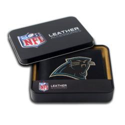 Carolina Panthers Men's Black Leather Bi-fold Wallet