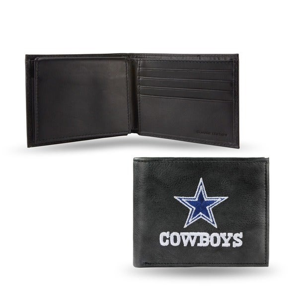Dallas Cowboys Men's Black Leather Bi-fold Wallet