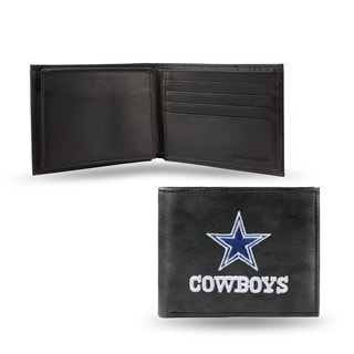 Dallas Cowboys Men's Black Leather Bi-fold Wallet