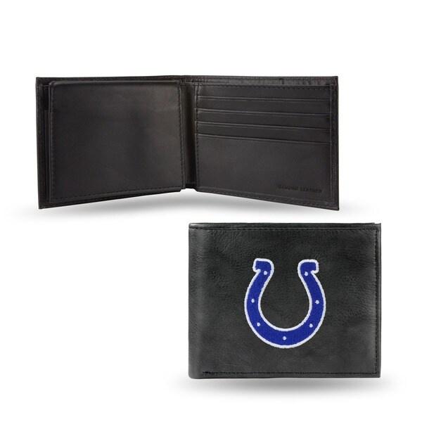 Indiana Colts Men's Black Leather Bi-fold Wallet