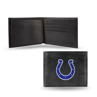 Indiana Colts Men's Black Leather Bi-fold Wallet