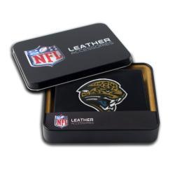 Jacksonville Jaguars Men's Black Leather Bi-fold Wallet - Thumbnail 0