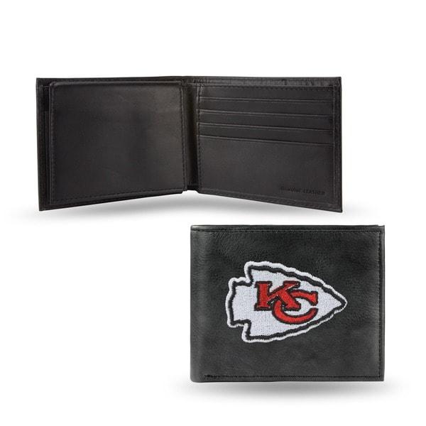 Kansas City Chiefs Men's Black Leather Bi-fold Wallet