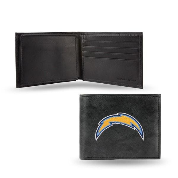 Shop San Diego Chargers Men S Black Leather Bi Fold Wallet