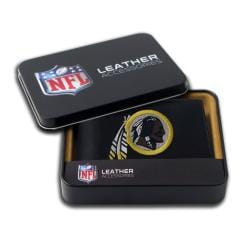 Washington Redskins Men's Black Leather Bi-fold Wallet - Thumbnail 0