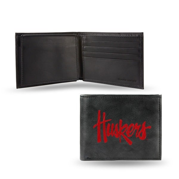 New Jersey Devils Men's Black Leather Bi-fold Wallet