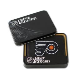 Philadelphia Flyers Men's Black Leather Bi-fold Wallet