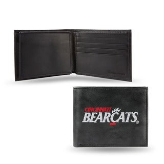 Cincinnati Bearcats Men's Black Leather Bi-fold Wallet