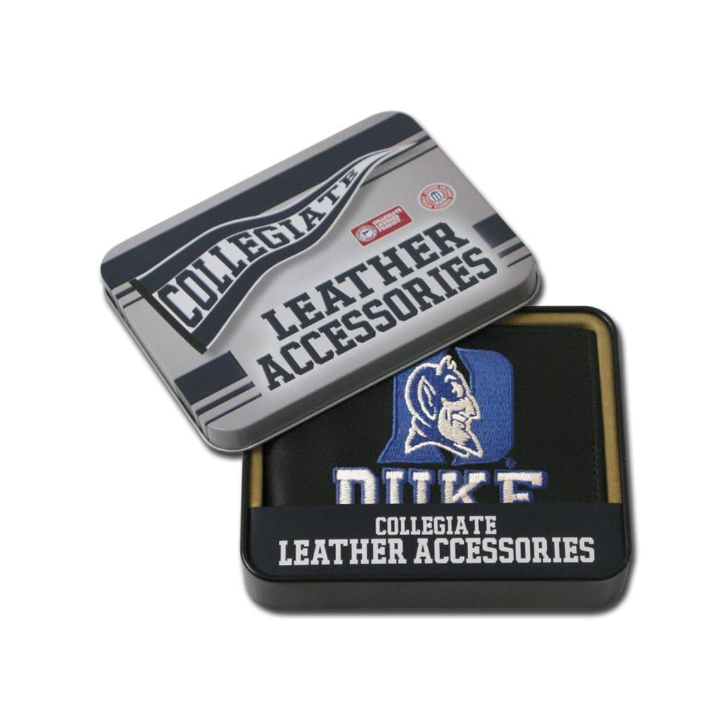 Duke Blue Devils Men's Black Leather Bi-fold Wallet