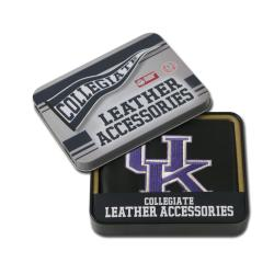 Kentucky Wildcats Men's Black Leather Bi-fold Wallet