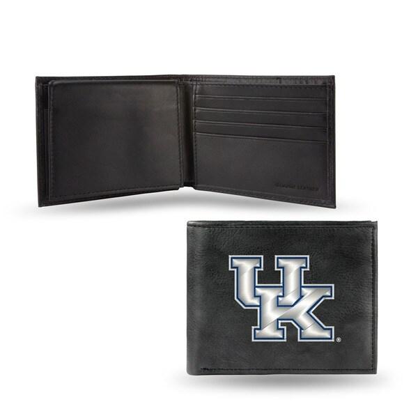 Kentucky Wildcats Men's Black Leather Bi-fold Wallet