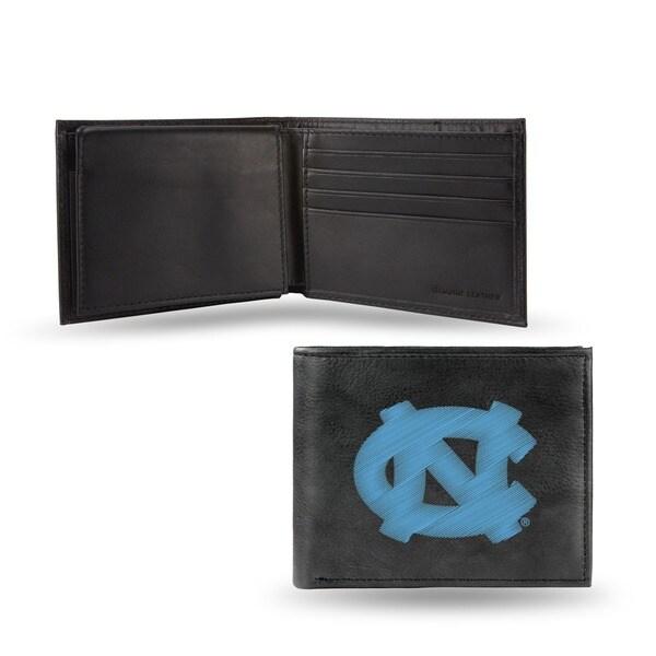 North Carolina Tar Heels Men's Black Leather Bi-fold Wallet