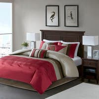 Madison Park Tradewind Red 7-piece Comforter Set