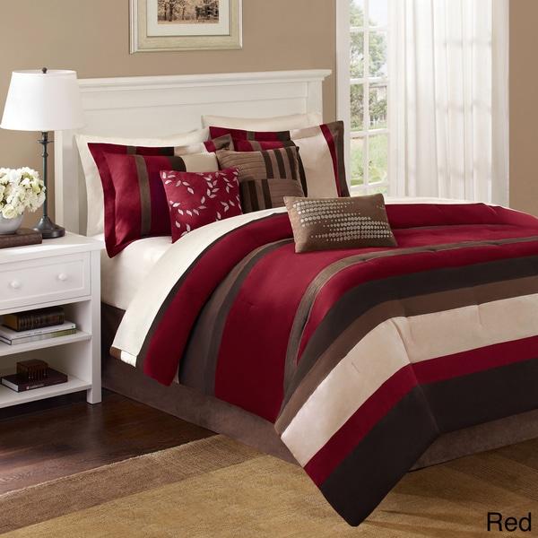 madison park boulder stripe 7 piece comforter set free shipping today 13267121. Black Bedroom Furniture Sets. Home Design Ideas