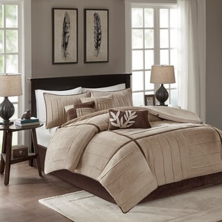 Link to Madison Park Dune Beige 7-piece Contemporary Comforter Set Similar Items in Comforter Sets