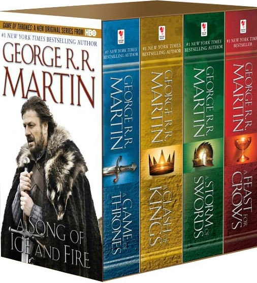Game of Thrones Boxed Set: A Game of Thrones/A Clash of Kings/A Storm of Swords/A Feast for Crows (Paperback) - Thumbnail 0