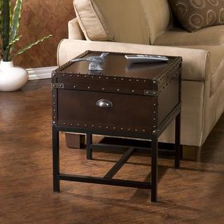 The Curated Nomad Azul Espresso Storage End Table