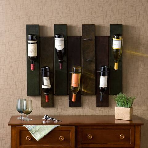 Carbon Loft Erlenmeyer 7-bottle Wall-mount Wine Rack