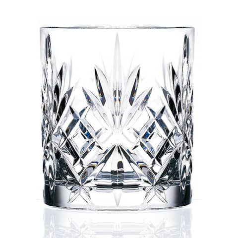 Lorenzo Melodia Crystal Double Old Fashioned Glasses (Set of 6)