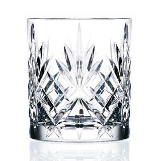 Lorenzo Melodia 6-piece Double Old Fashioned Crystal Glasses Set