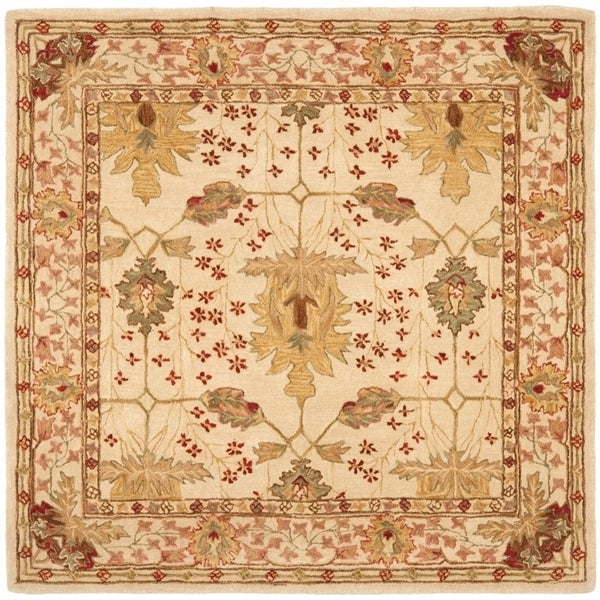 Safavieh Handmade Anatolia Oriental Oushak Ivory Hand-spun Wool Rug - 6' x 6' Square