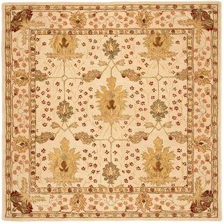 Safavieh Handmade Anatolia Oriental Oushak Ivory Hand-spun Wool Rug (8' Square)