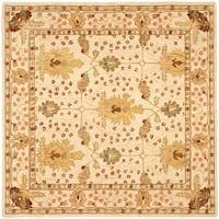 Safavieh Handmade Anatolia Oriental Oushak Ivory Hand-spun Wool Rug - 8' x 8' Square