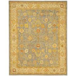 Safavieh Handmade Oushak Slate Blue/ Ivory Wool Rug (9'6 x 13'6)