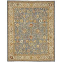 "Safavieh Handmade Oushak Slate Blue/ Ivory Wool Rug - 9'-6"" x 13'-6"""