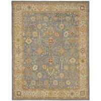 "Safavieh Handmade Oushak Slate Blue/ Ivory Wool Rug - 7'6"" x 9'6"""