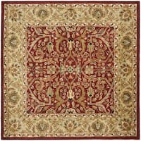 Safavieh Handmade Heritage Timeless Traditional Red/ Gold Wool Area Rug - 6' x 6' Square