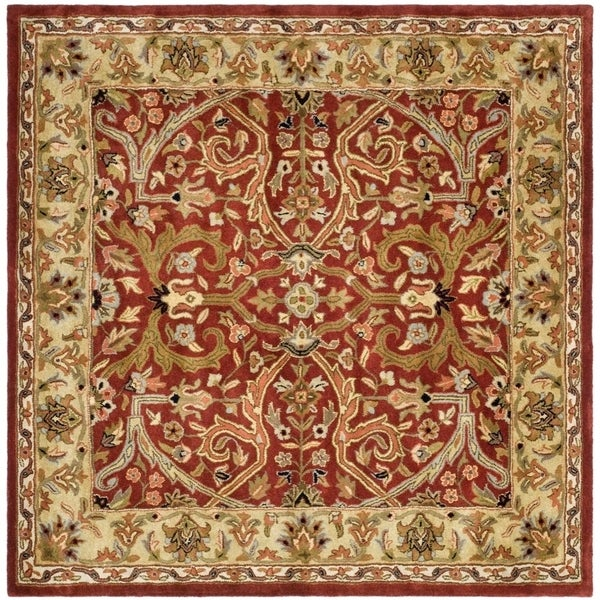 Safavieh Pl537a Persian Legend Wool Hand Tufted Rust Navy: Shop Safavieh Handmade Heritage Timeless Traditional Red