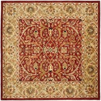 Safavieh Handmade Heritage Timeless Traditional Red/ Gold Wool Rug - 8' x 8' Square