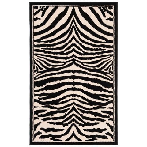 "Safavieh Lyndhurst Contemporary Zebra Black/ Ivory Rug - 3'3"" x 5'3"""
