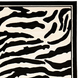 Safavieh Lyndhurst Contemporary Zebra Black/ White Rug (3'3 x 5'3) - Thumbnail 1