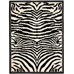 Safavieh Lyndhurst Contemporary Zebra Black/ White Rug (3'3 x 5'3)