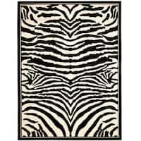 Safavieh Lyndhurst Contemporary Zebra Black/ Ivory Rug - 3'3 x 5'3