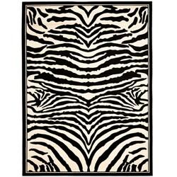 Safavieh Lyndhurst Contemporary Zebra Black/ White Rug - 3'3 x 5'3