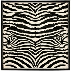 Safavieh Lyndhurst Contemporary Zebra Black/ White Rug (8' Square)