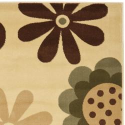 Safavieh Porcello Fine-spun Daises Floral Ivory/ Green Area Rug (6'7 x 9'6) - Thumbnail 1
