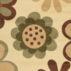 Safavieh Porcello Fine-spun Daises Floral Ivory/ Green Area Rug (6'7 x 9'6) - Thumbnail 2