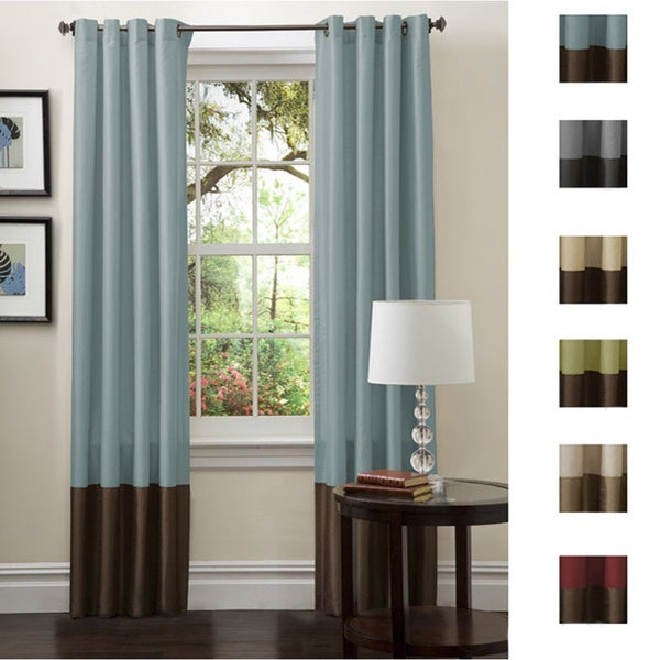 Lush Decor Prima Faux Silk 84-inch Curtain Panel Pair