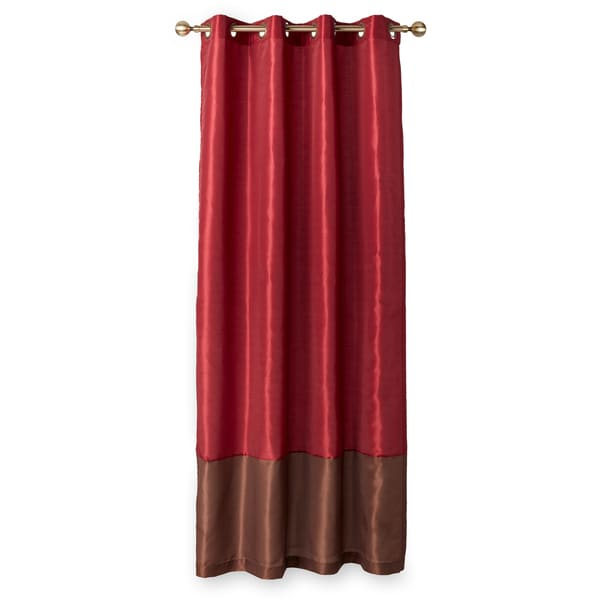 Lush Decor Prima Faux Silk 84-inch Curtain Panel Pair - 52 x 84