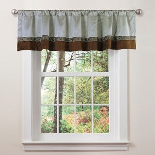 Lush Decor Kyoto Contrast Border Window Valance