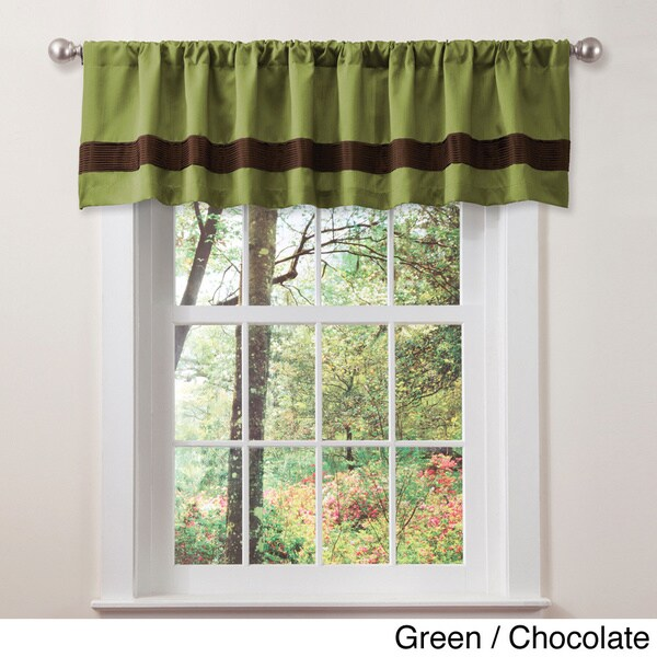 Lush Decor Talon Faux Silk Valance
