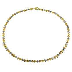 Fremada 14k Three-color Gold Polished Arrow Link 17-inch Necklace