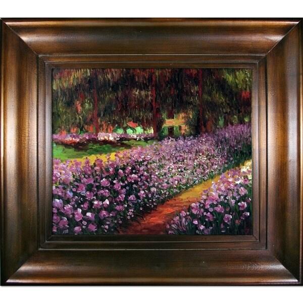 Claude Monet 'Artist's Garden at Giverny' Framed Canvas Wall Art