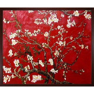 Van Gogh 'Branches Of An Almond Tree In Blossom' Framed Canvas Art
