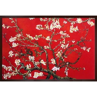 Van Gogh 'Branches Of An Almond Tree In Blossom (Red)' Canvas Art