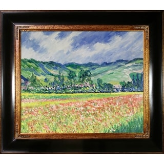 Monet 'Poppy Field near Giverny' Hand-painted Canvas